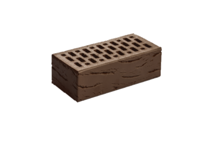 Кирпич керамический лицевой утолщенный Шоколад Антик (308 шт)