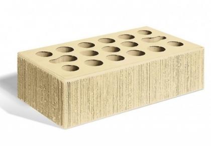 Кирпич керамический лицевой одинарный (пшеница бархат)