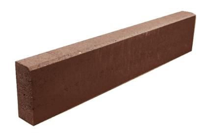 Бордюр тротуарный коричневый 1000х200х80