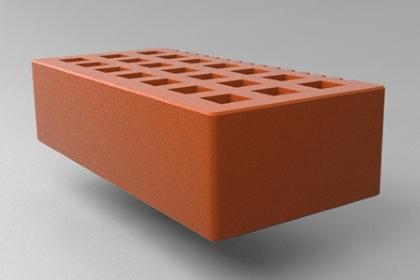 Кирпич керамический лицевой одинарный красный гладкий СЗЛК