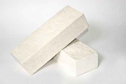 Кирпич лицевой колотый белый (460 шт)