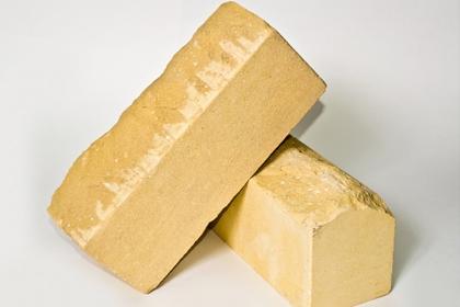 Кирпич лицевой рельефный желтый (210 шт)