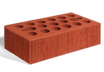 Кирпич керамический лицевой одинарный (красный бархат)