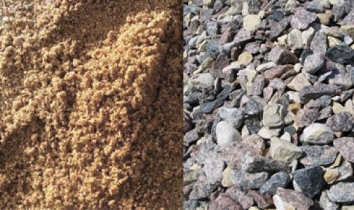 Песок, щебень, цемент, керамзит