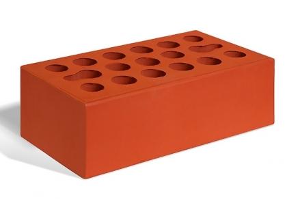Кирпич керамический лицевой утолщенный  (красный)