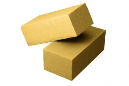 Кирпич силикатный полуторный  полнотелый  (желтый)