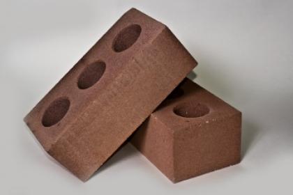 Кирпич силикатный полуторный пустотелый коричневый (336 шт)