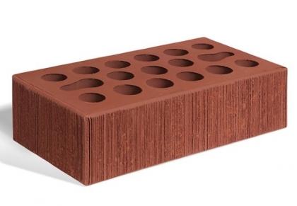 Кирпич керамический лицевой одинарный (бордо бархат)