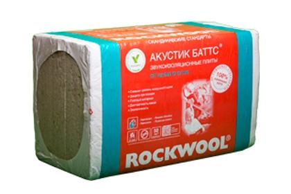 ROCKWOOL Акустик Баттс  (3 кв.м. = 0,3 куб.м.)