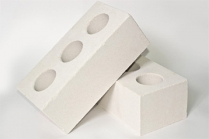 Кирпич силикатный полуторный  лицевой пустотелый  (белый)