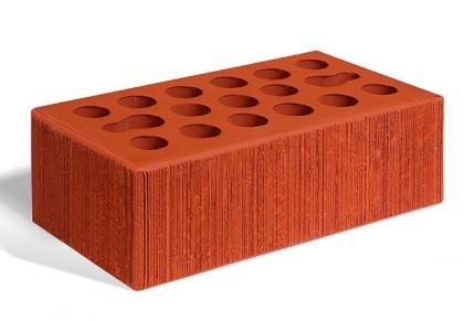 Кирпич керамический лицевой утолщенный (красный бархат)