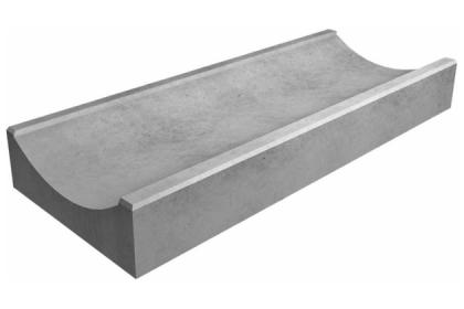 Водосток серый 400х170х70
